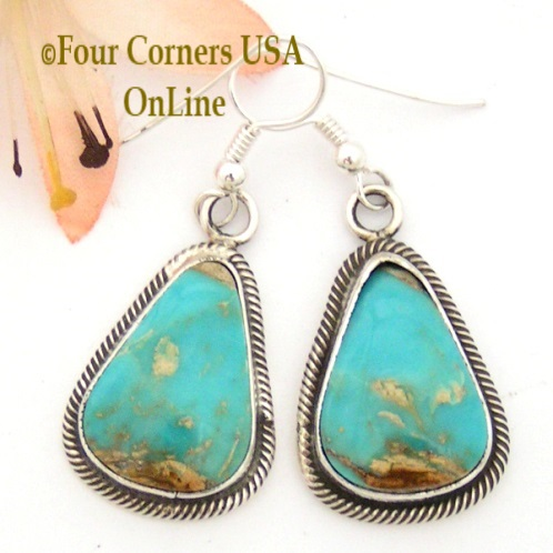 Dangle Earrings Four Corners USA OnLine Native American Silver Jewelry